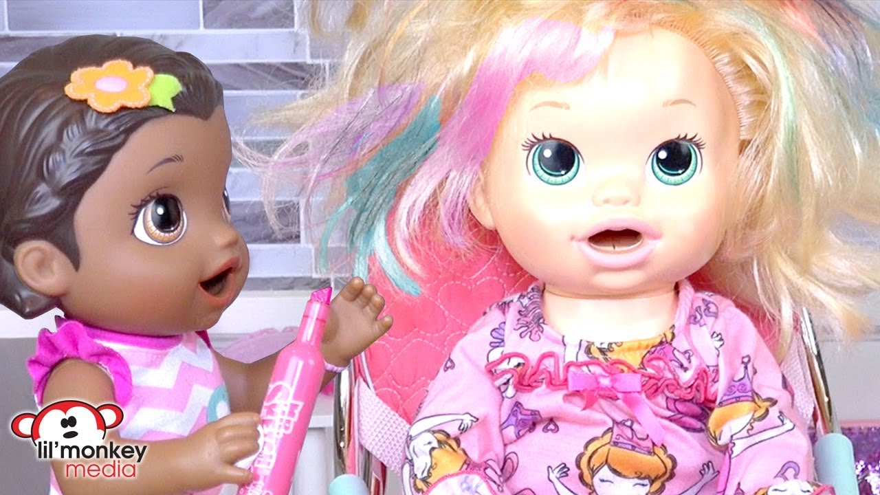 baby alive beauty salon haircuts