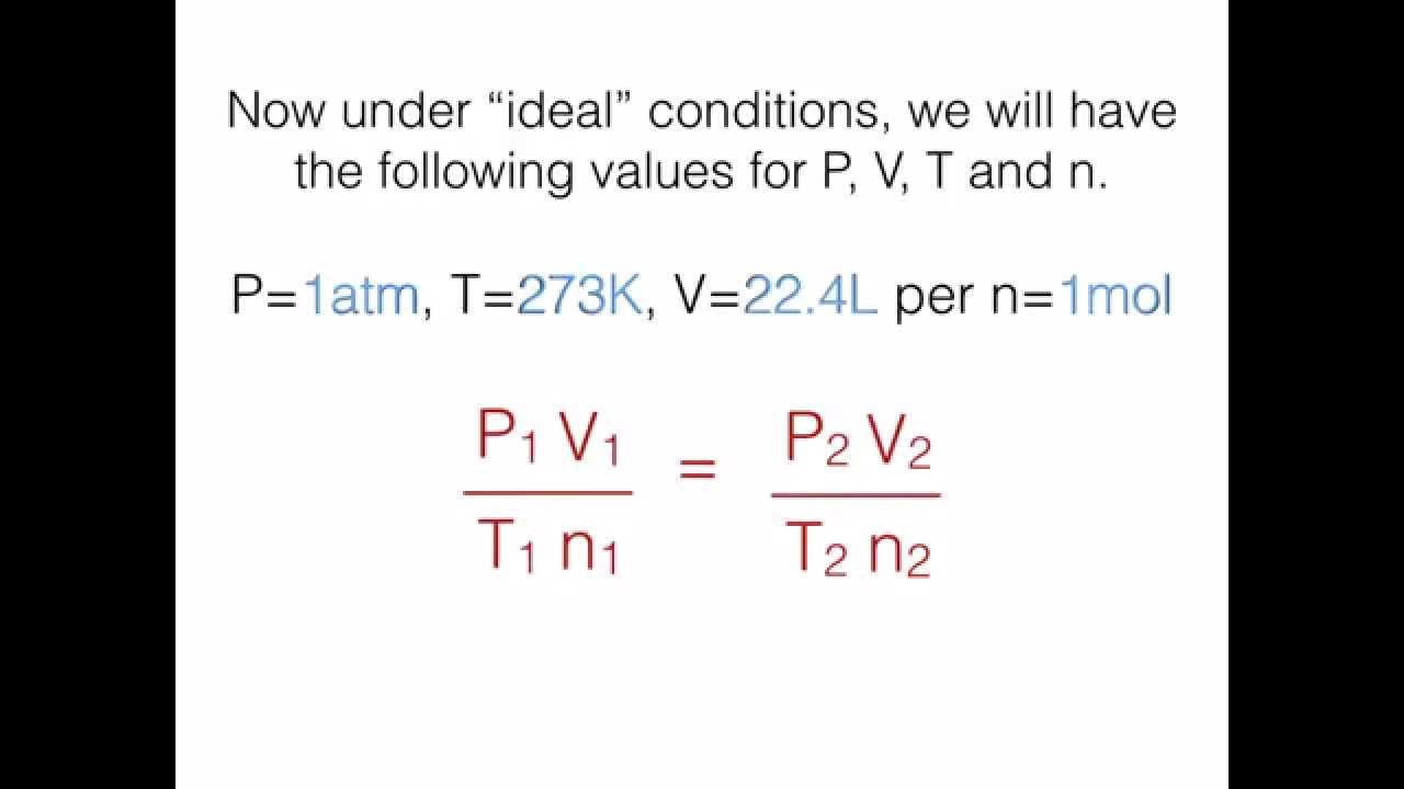 Deriving The Combined And Ideal Gas Laws  Part 2