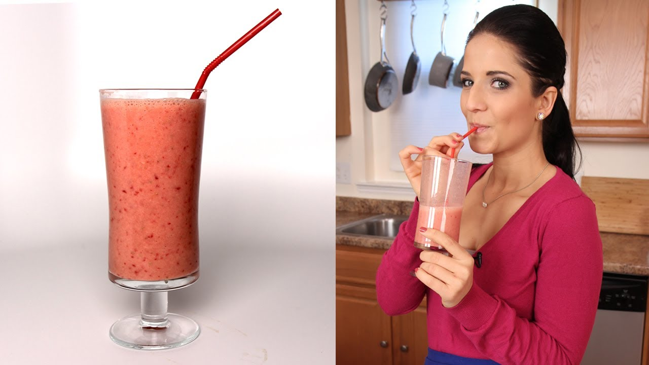 Strawberry Banana Smoothie Recipe - Laura Vitale - Laura in the ...
