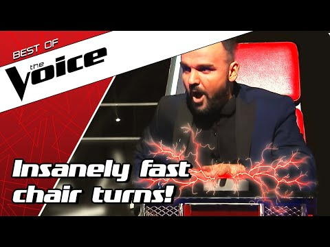 TOP 10 | QUICKEST TURNS in the Blind Auditions of The Voice
