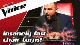 TOP 10 | QUICKEST TURNS in the Blind Auditions of The Voice MP3