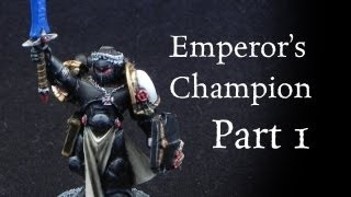 How to paint Black Templars Emperor