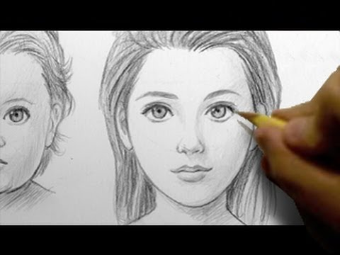 How to draw babies teens adults female