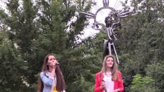 Открытие памятника Наде Рушевой.