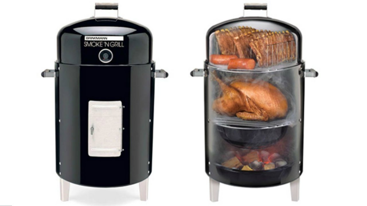 Brinkmann vertical smoker charcoal/wood smoker grill manuals.