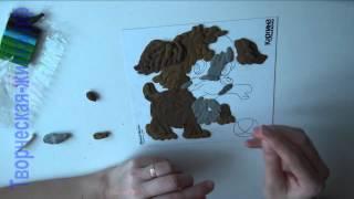 Картина из пластилина. Мастер-класс как рисовать пластилином(Картина из пластилина смотрится очень красиво и необычно. Посмотрите и убедитесь сами! Примеры картин тут:..., 2014-03-26T06:14:36.000Z)