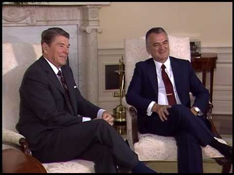 President Reagan's Meetings with President De la Madrid on August 13, 1986