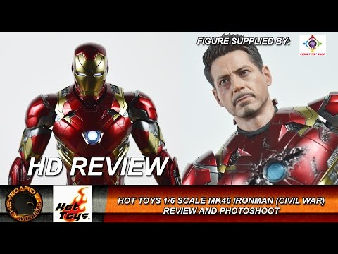 Hot Toys 1/6 Scale Ironman Mark 46 Civil War Review and Photoshoot