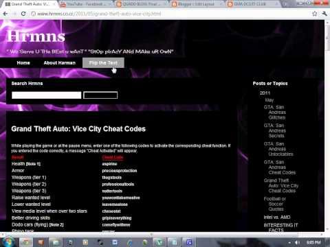 All Grand Theft Auto: Vice City Cheat Codes