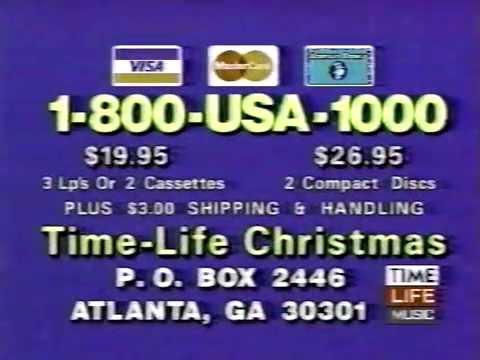 80's Ads: Time Life Music Christmas Album 1987 - YouTube
