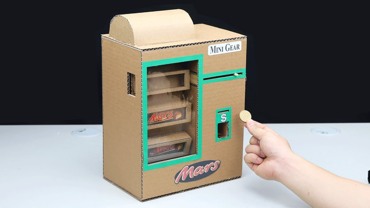 How to Make Mars Chocolate Bar Vending Machine with Coin