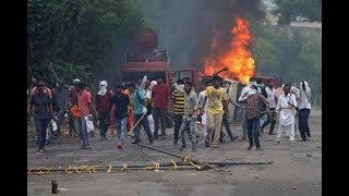 Ram Rahim Ka Aatank - Burnt buses in Delhi