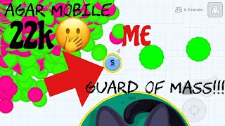 *EPIC*MOMENTS+FUNNY MASS PILE TROLL(Agar.io mobile gameplay!)