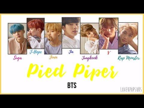 BTS - Pied Piper [COLOR CODED LYRICS English subs + Romanization + Hangul] HD