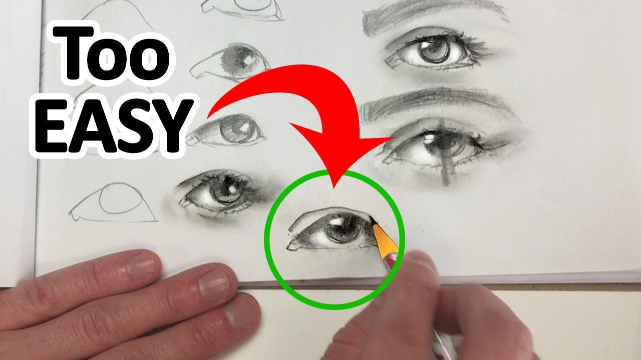 how to draw eyes step by step youtube