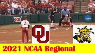 Wichita State vs #1 Oklahoma Softball Game Highlights, 2021 NCAA Regional Site 1 Game 6