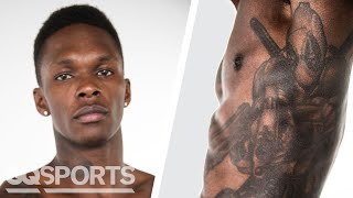 UFC Fighter Israel Adesanya Breaks Down His Tattoos | GQ Sports