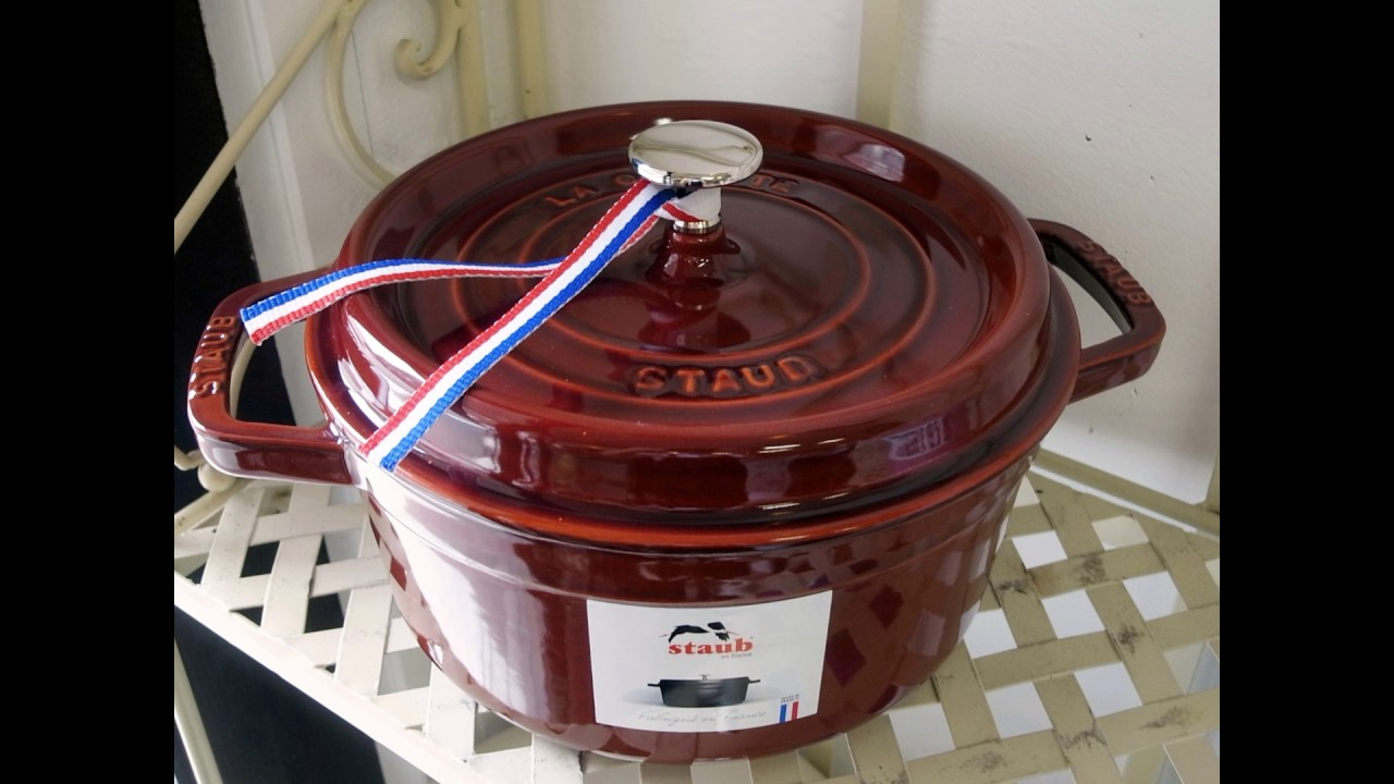 staub cocotte ronde 22 rouge
