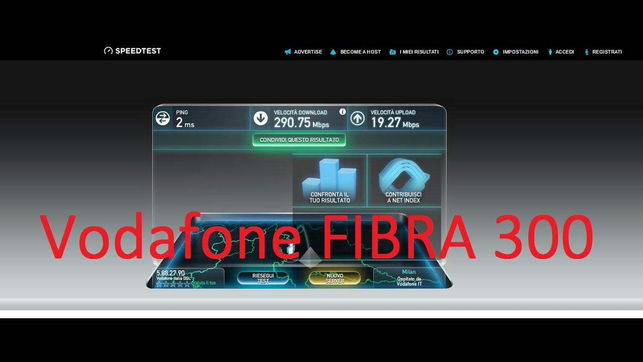 Speedtest Vodafone FIBRA 300 - YouTube