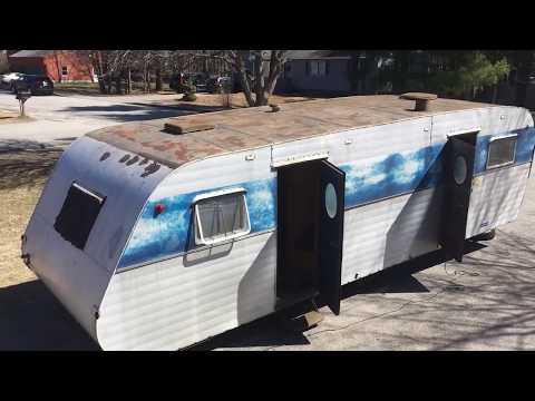 1951 Elcar Travel Trailer Renovation, from Elkhart, Indiana. Video #1