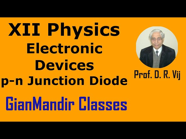 XII Physics | Electronic Devices | p-n Junction Diode by Poonam Ma'am