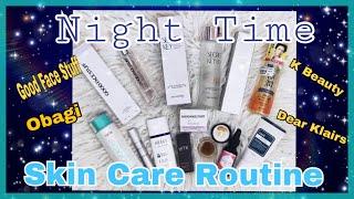Night Time Skin Care Routine : Mature Skin : Good Face Stuff,  K Beauty, Haba Labo : HotMessNess MUA