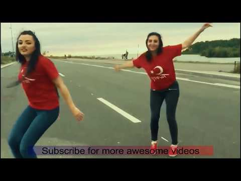 turkish || turkish girls dance on pashto song || beautiful hair || robotic dance
