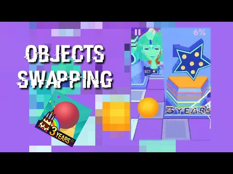 Rolling sky - Happy birthday - object swapping