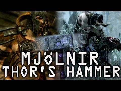 Skyrim- Mjölnir Thor's Hammer from YouTube · High Definition · Duration:  10 minutes 46 seconds  · 734.000+ views · uploaded on 30-3-2012 · uploaded by Robbaz