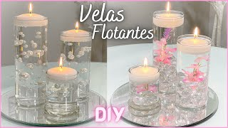 Como hacer Velas Flotantes para decorar tu casa, fiesta o evento / Manualidades Fáciles / DIY
