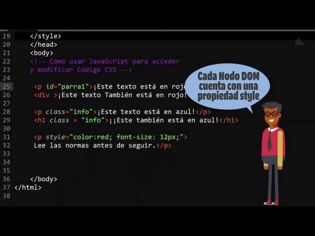 46.- Curso de JavaScript para principiantes. Acceder y modificar CSS con JavaScript.
