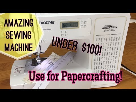 Project Runway Brother Sewing machine / Sewing on Paper Review & Demo | I'm A Cool Mom