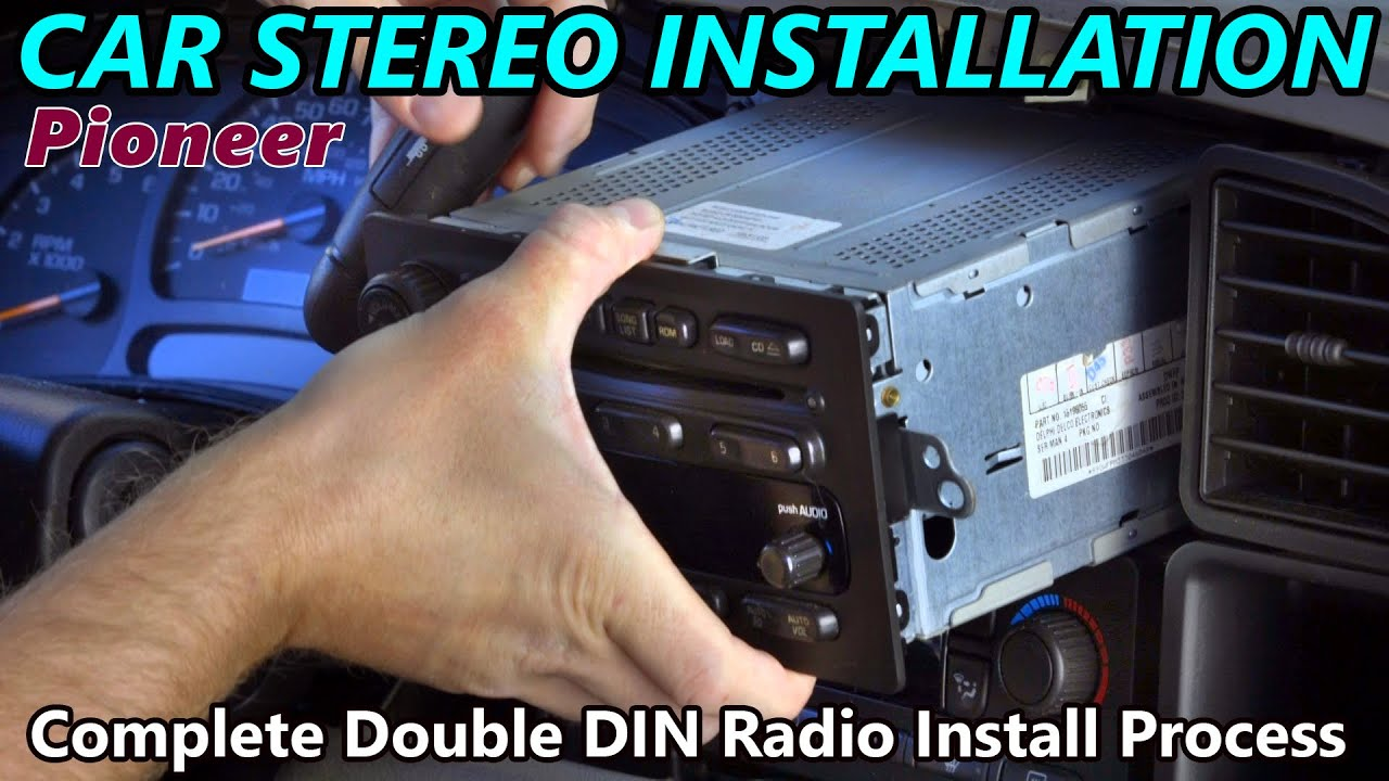 Full Double Din Car Stereo Installation Retain Steering Wheel 2005 Suburban Wiring Harness Control Onstar