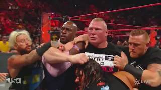 WWE Serious FiGht ... Brock Lesnar Vs Samoa Joe ,,Real Fight ..