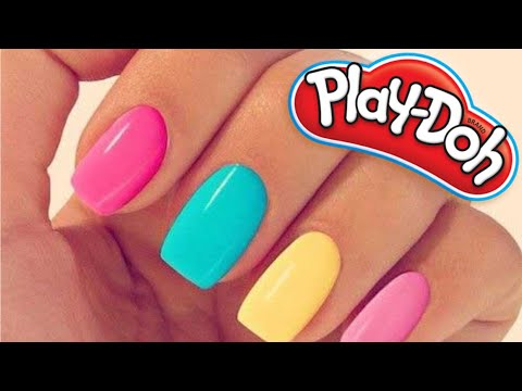 How To Make Your Own Play Doh Nails @home!