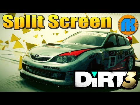 DiRT 3 \ Split Screen \ FORD MKII vs SUBARU WRX STI N12 В ДИРТ 3 !!!