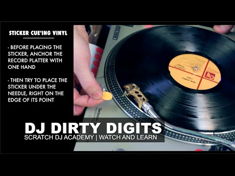 DJ Dirty Digits   Sticker Cue'ing Vinyl   Watch and Learn
