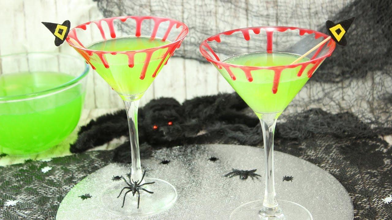 Giftgrüner Hexen Cocktail I mit & ohne Alkohol möglich I Halloween ...