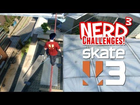 Nerd³ Challenges! Break Every Bone! - Skate 3