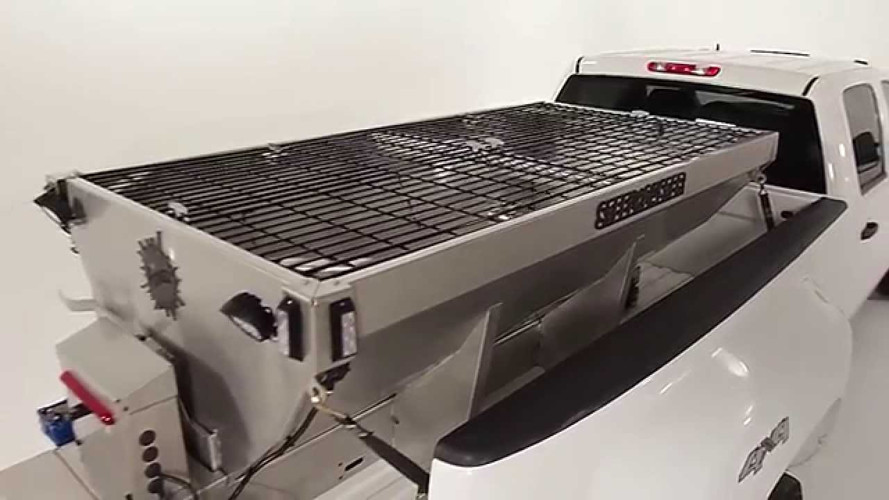steel caster stainless steel hopper spreader own the ice fisher engineering youtube [ 1280 x 720 Pixel ]