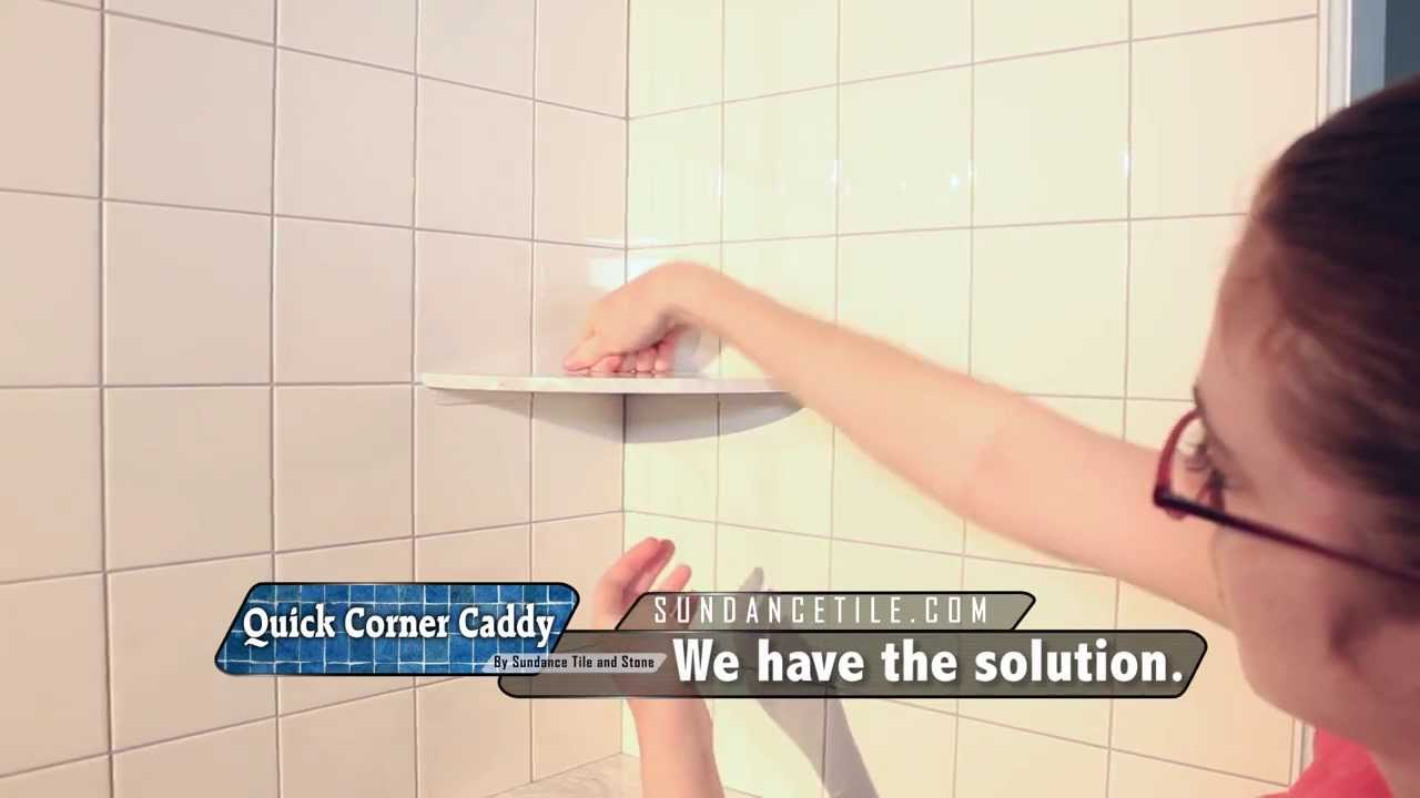Installing a shower corner shelf on existing tile YouTube
