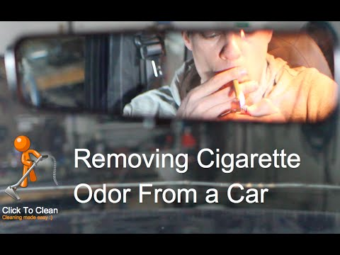 Remove cigarette smell from a car with Chlorine Dioxide.