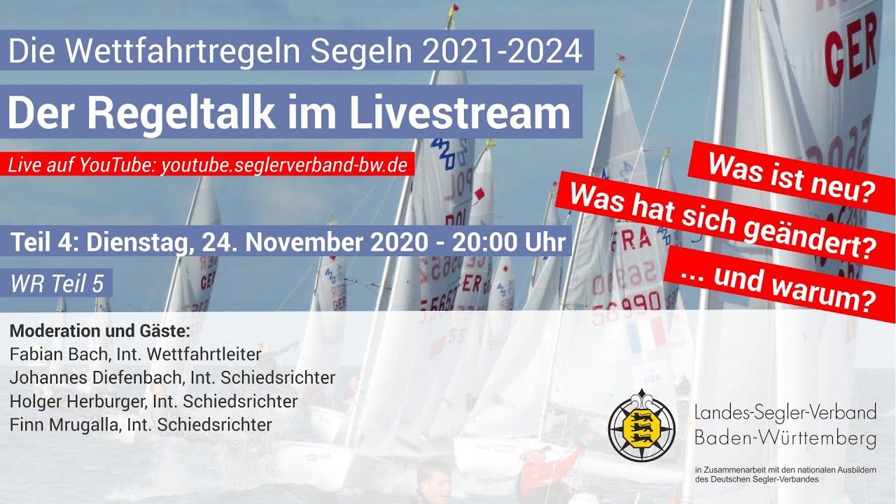Teil 4 - Der Regeltalk im Livestream: Die Wettfahrtregeln Segeln 2021-2024
