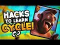 How to HACK your CYCLE SKILLS in Clash Royale! (2 Mini Games)