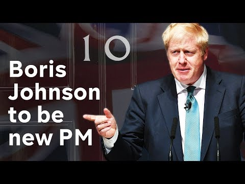 Boris Johnson elected new Conservative party leader