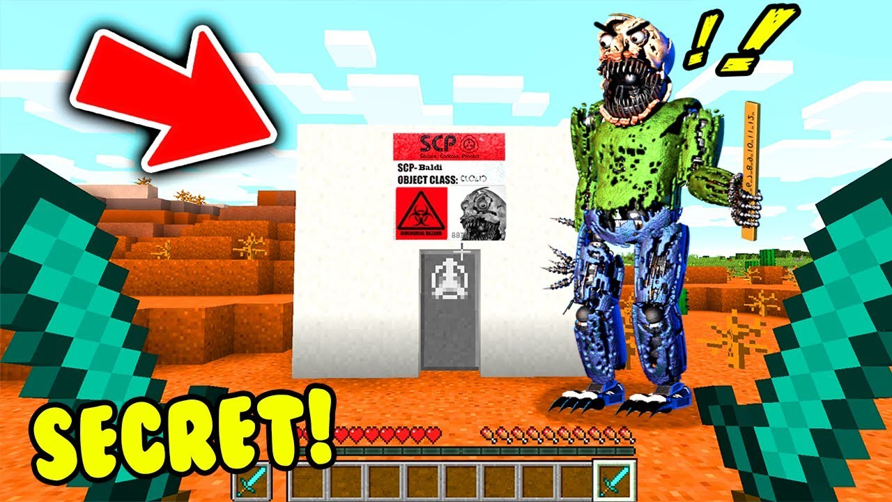 Minecraft Finding Secret Scp Nightmare Baldi Base Youtube