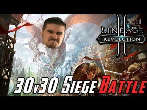AJ Plays Lineage 2: Revolution - 30v30 Siege Battle!