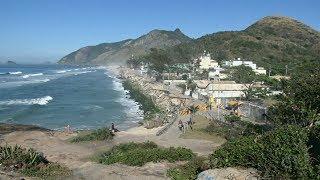 Пляж в Рио-де-Жанейро разрушился под воздействием океанских волн (новости)