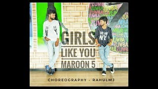 Maroon 5 - Girls Like You ft . Cardi B | Dance - Cover | Rahulmj Choreography