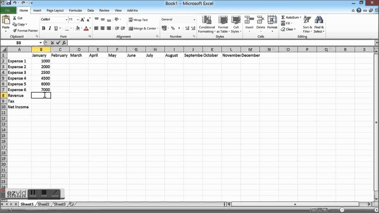 Create A Budget Spreadsheet